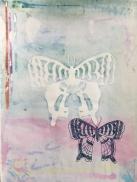 "Morning (Emblem - Spectre II), monoprint, screen print on paper, 13x18"""